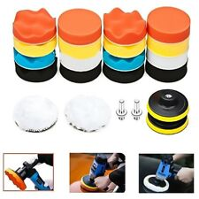 "22pcs 3"" Buffing Waxing Polishing Sponge Pads Kit Set For Car Polisher Drill"