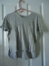 Gap Artist Short Sleeve V-Neck T-Shirt Gray Women'S Juniors Girls X-Large 12