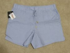 NWT Womens ELLEN TRACY COMPANY Chambray blue Linen Shorts Size Small $59.50