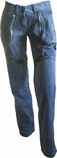 Datch Pantalones Casual Bolsillos Cremalleras Mujer En Gris 100 % Algodón