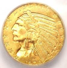 1909 Indian Gold Half Eagle $5 Coin - ICG MS65 - Rare in MS65 - $7,500 Value!