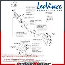 DERBI SENDA DRD PRO R/SM 50 2005 05 LEOVINCE ESCAPE COMPLETO X-FIGHT INOX 3286