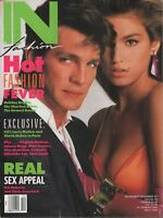 In Fashion Magazine Nov/Dec 1987 Cindy Crawford Eric Roberts 102819AME2