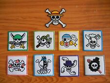 New Wholesale Lot of 9 Iron On Patches One Piece Anime Pirates Japan Embroider