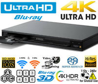 SONY UBP-X1100ES UHD ALL REGION FREE BLU-RAY DVD PLAYER ZONE A,B,C & DVD: 0-9,