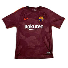 Men's 2017/2018 Nike FC Barcelona Maroon and Orange Third Jersey Sz Large EUC