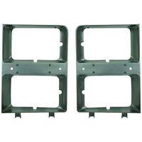 New Set of 2 LH & RH Side Headlight Door/Bezel Primered For Chevrolet C10 83-84