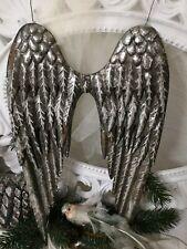 Engelsflügel aus Metall mit Pick zum stecken Farbe silber Advent Weihnachten