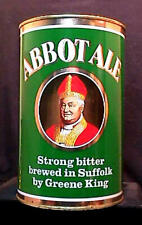 ABBOT ALE STRONG BITTER ALE - 4 PINT FLAT TOP CAN - INCREDIBLY CLEAN - SUFFOLK
