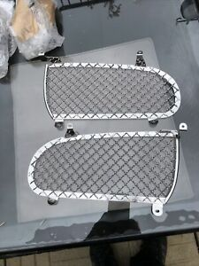 MG Rover ZR MGZR Woven Chrome Stainless Pair Front Radiator Grille Grill New