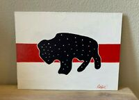 American Buffalo Painting Limited Series Hand Painted Canvas 9X12 #5 of 10