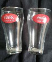 Collectable Vintage Set of Two 1982 Coca Cola Coke Promotional Drinks Glass