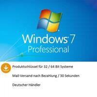 ✅ Windows 7 Pro für 32/ 64Bit Aktivierungsschlüssel  ✅ 30 Sec Mail Shipping