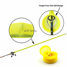 Tangle Free Casting Fishing Rod Cover Jacket Sleeve Pole Sock Glove YEL