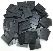 Lego 60 New Black Tiles Modified 3 x 4 with 4 Studs in Center Display Stands