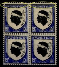 2 Variétés BLASON CORSE 755f, Neufs ** = Cote 94 € / Lot Timbres France