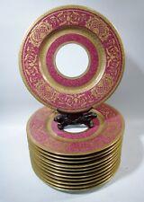 Antique Hutschenreuther Comte Harrach Gold Encrusted 12 Service Plates