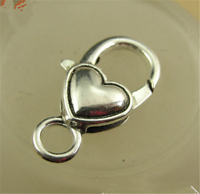 P1156 5pc Retro Tibetan Silver Love heart Large LOBSTER CLAW CLASPS 27*14MM