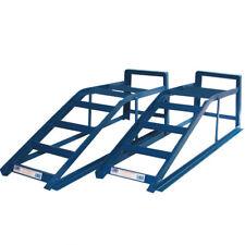 Coppia 2 Tonnellate Auto Metallo Rampe 2000kg 2T Veicolo Garage Tools Blu Cougar