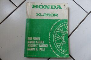 Honda XL250 R Werkstatthandbuch