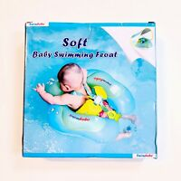 Inflatable Baby Float Sunshade Swimming Boat Seat W/ Canopy Swim Ring Size Small