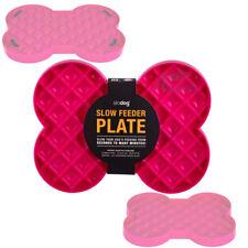 SloDog Pink No Gulp Dish Slow Feeder Plate / Bowl Prevents Bloat Vet Developed