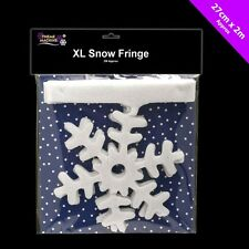 Glitter Snowflake Border 2m Decorative Christmas Drape Fringe Decoration 54682