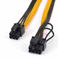 5pcs PCIe 6pin Male to 8pin(6+2) Male Graphics Card Power Cable GPU Cable
