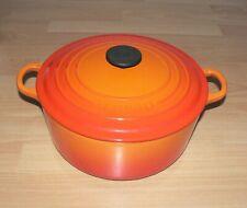 Le Creuset Volcanic Orange Cast Iron Round Casserole  -  26 cm