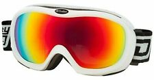 DIRTY DOG ski goggles SCOPE medium fit White / Fire Red Fusion Mirror Lens 54094