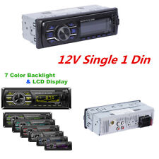 Single 1 Din Car Radio MP3 Player Stereo Audio In-Dash FM Aux Input  +SWC Remote