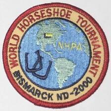 World Horseshoe Tournament Patch - Bismarck ND 2000 (iron-on)