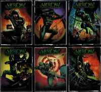 Arrow Season One Comic Book Covers Transparent Acetate Complete 6 Card Chase Set