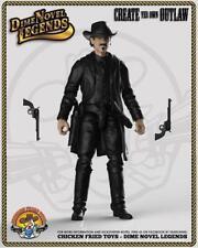 """Dime Novel Legends 1:18 scale (4"""") old west action figure Man In Black"""
