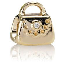 PANDORA | 14K GOLD PURSE W/ DIAMOND CHARM *BRAND NEW* Authentic 750340D RARE USA
