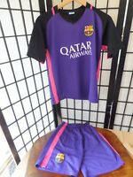 Qatar Airways Barcelona Football Kit Messi Number 10 Unicef Boys XL Sportswear