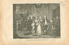 Famille Royal Louis XVI Marie Antoinette Dauphin GRAVURE ANTIQUE OLD PRINT 1873