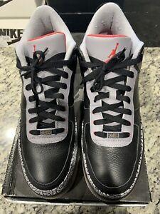 RARE AJF 3 Air Jordan Air Force 1 Black Cement Mens Size 13