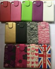 Vertical style PU leather flip phone case cover for iphone 4, 4s