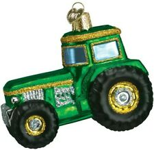 Old World Christmas 46006 Glass Blown Tractor Ornament