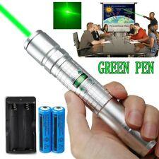 900Miles Green Beam Laser Pointer Lamp 532nm Lazer Light+2x18650 Battery+Charger