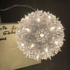 Pottery Barn Lighted Sphere Clear Lights Ball Christmas Tested Original Box