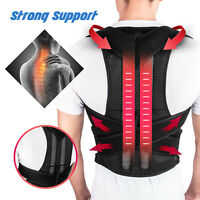Adjustable Women Men Back Posture Shoulder Corrector Support Brace Belt Therapy