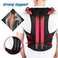 Women Men Back Posture Magnetic Shoulder Corrector Support Brace Belt Therapy