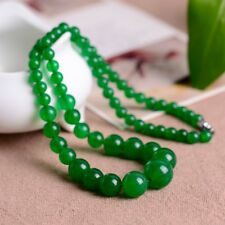 100% china Natural hand carved Brazilian green tower chain necklace