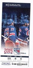 2015 NEW YORK RANGERS VS TAMPA BAY LIGHTNING PLAYOFFS TICKET STUB GAME #1