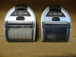 2 X Zebra MZ320 Mobile Bluetooth Portable Label Label Printer M3E-0UB0E020-00
