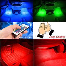 LED Car Light Interior Atmosphere SUV Floor Strip Lamp Remote Voice Control USA