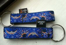 """Lupinepet 3/4""""W Fabric Key Ring/Keychain. 15 Various Multi Color. Made In USA!"""