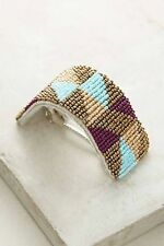 New Anthropologie Sold Out in Store $38 Verity Beaded Barrette, Turquoise Motif